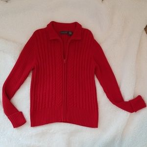 Perfect Red Zip Sweater